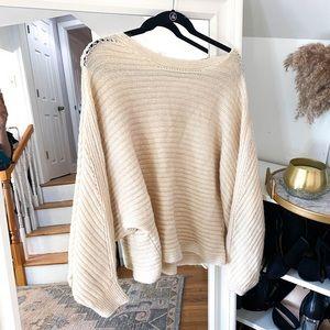 White Soft Crew Neck Sweater
